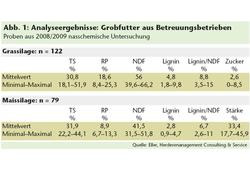 Analyse grobfutter 2008/2009